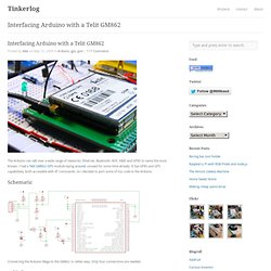 Interfacing Arduino with a Telit GM862