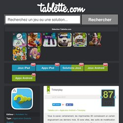 Tinkerplay Tablette Android 87/100 (test, photos)