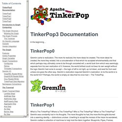 TinkerPop3 Documentation