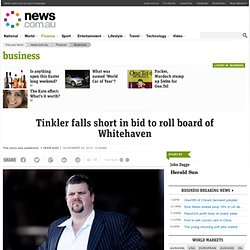 Tinkler falls short in bid to roll board of Whitehaven