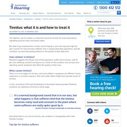 Tinnitus: what it is and how to treat it - Australian Hearing