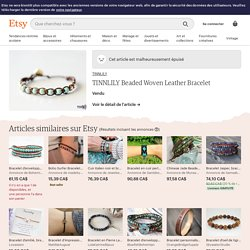 Transaction - TINNLILY Beaded Woven Leather Bracelet