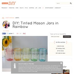 Tinted Mason Jars in Rainbow