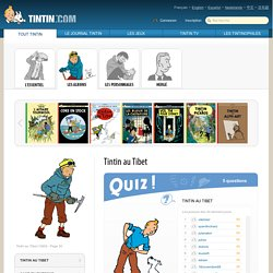 Tintin au Tibet - Quizz