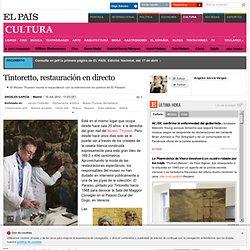 Tintoretto, restauración en directo