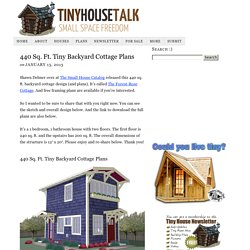 440 Sq. Ft. Tiny Backyard Cottage Plans