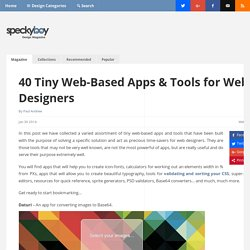 40 Tiny Web-Based Apps & Tools for Web Designers