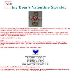 "6"" Bear Valentine Sweater"