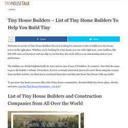 Tiny House Builders - List of Tiny Home Builders To Help You Build Tiny