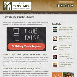 Tiny House Building Codes – The Tiny Life