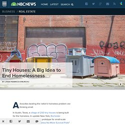 Tiny Houses: A Big Idea to End Homelessness