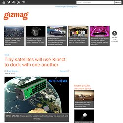 Tiny satellites will use Kinect to dock with one another