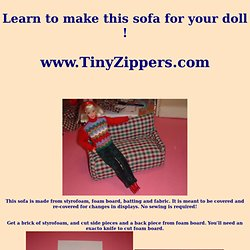 Make An Easy Doll Sofa
