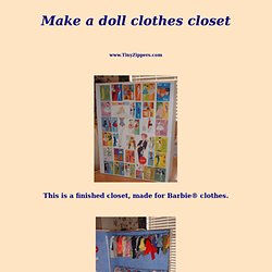 How To Make A Doll Closet Cheaply - Tiny Zippers