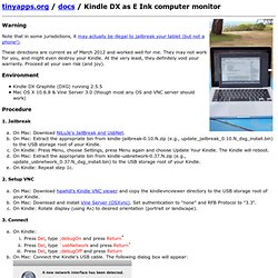 Kindle DX as E Ink computer monitor