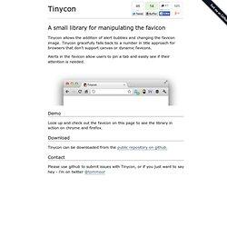 Tinycon - Favicon Alert Bubbles