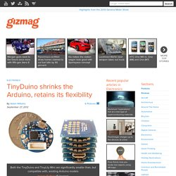TinyDuino shrinks the Arduino, retains its flexibility