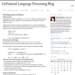 TinySegmenter in Python