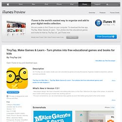 TinyTap, Moments Into Games - Create free educational games & books for kids for iPad on the iTunes App Store