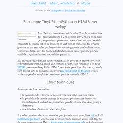 Son propre TinyURL en Python et HTML5 avec webpy — Biologeek