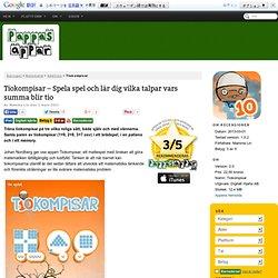 Tiokompisar - Spela spel och lär dig vilka talpar vars summa blir tio