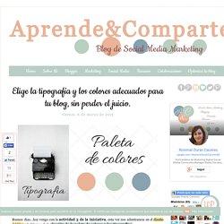 Elige la tipografía y los colores adecuados para tu blog, sin perder el juicio.