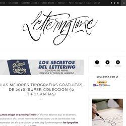 Las mejores tipografías gratuitas de 2016 (Super Coleccion 50 tipografías)