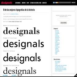 8 de las mejores tipografías de la historia « deSIGNALS
