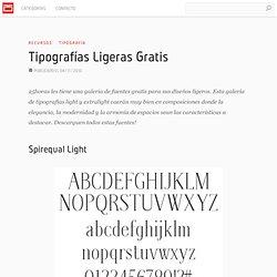 Tipografías Ligeras Gratis