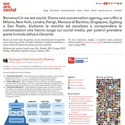 Tipologie e livelli di social influence