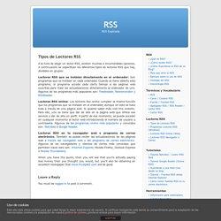 Tipos de Lectores RSS