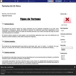 Tipos De Turismo - Turismo En El Peru
