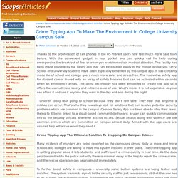 Crime Tipping App To Make The Environment In College University Campus Safe