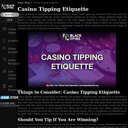 Casino Tipping Etiquette