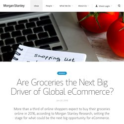 Tipping Point for Online Groceries?