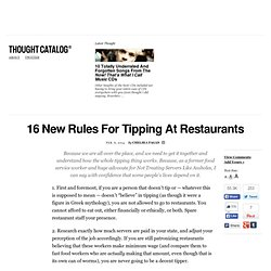 16 New Rules For Tipping At Restaurants