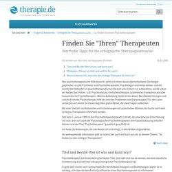 Tipps für erfolgreiche Psychotherapeutensuche