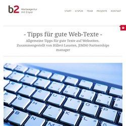 Tipps für gute Texte - b2 Werbeagentur