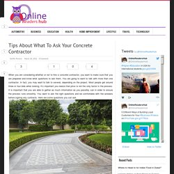 Tips About What To Ask Your Concrete Contractor -