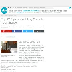 Top 10 Tips for Adding Color to Your Space