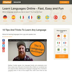 10 Tips and Tricks to Learn Any Language