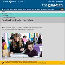 Top tips for attending open days