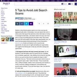 5 Tips to Avoid Job Search Scams