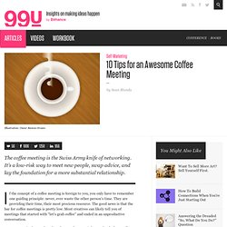 10 Tips for an Awesome Coffee Meeting