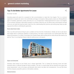 Tips To Get Better Apartments For Lease