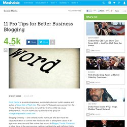 11 Pro Tips for Better Business Blogging