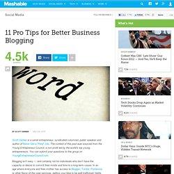 11 Pro Tips for Better Business Blogging