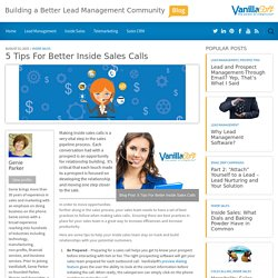 5 Tips for Better Inside Sales Calls
