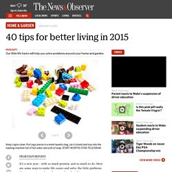 40 tips for better living in 2015