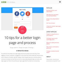 10 tips for a better login page and process - UXM